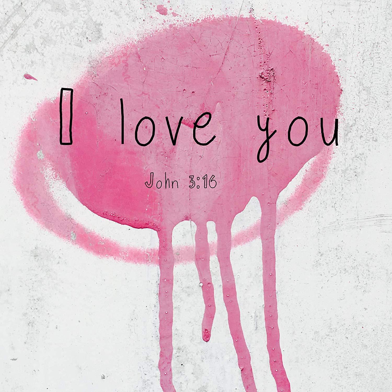Amazon.com: Bible Quotes Belfast Plaque 210 X 210 I Love You ...