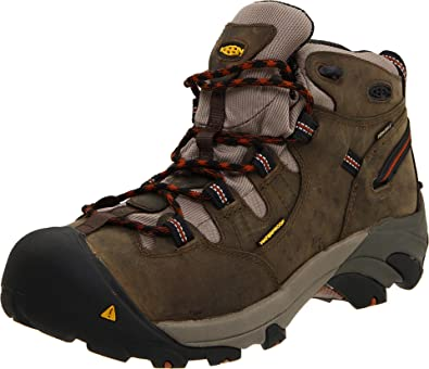 KEEN Utility Men's Detroit Mid Soft Toe Work Boot,Black Olive,7 EE US