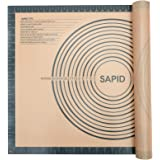Sapid Extra Thick Silicone Pastry Mat Non-slip with Measurements for Non-stick Silicone Baking Mat Extra Large, Dough…
