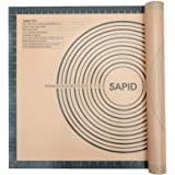 Sapid Extra Thick Silicone Pastry Mat Non-slip with Measurements for Non-stick Silicone Baking Mat Extra Large, Dough Rolling