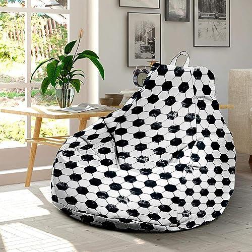 Super Amazon Com Soccer Ultra Soft Bean Bags Chairs Beanless Bag Dailytribune Chair Design For Home Dailytribuneorg
