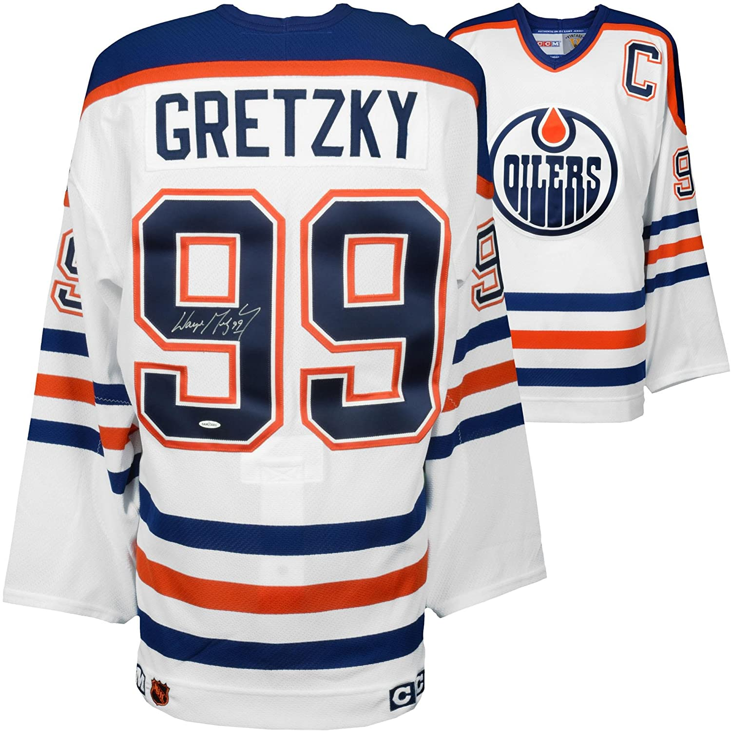 Wayne Gretzky Edmonton Oilers Autographed White CCM Jersey - Upper Deck -  Fanatics Authentic Certified at Amazon s Sports Collectibles Store 59a84da67
