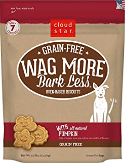 product image for Cloud Star Wag More Bark Less Grain-Free Pumpkin Flavor Dog Treats, 2.5 Pounds