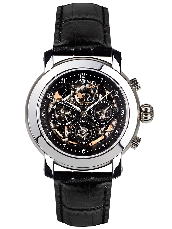 AndrÉ Belfort Herren-Armbanduhr Intemporelle Stahl Schwarz 410150