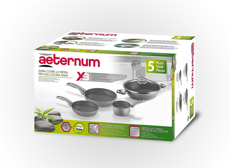 24,28 cm Gris Aluminium Bialetti Y0C6SET002 Madame Petra Induction 2.0 Lot Po/êles 20//24//28