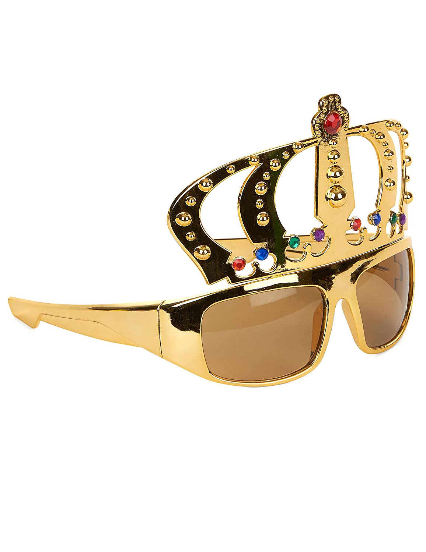 Brille König Krone - Tolles Accessoire für Junggesellenabschied oder Mottoparty Funny Fashion
