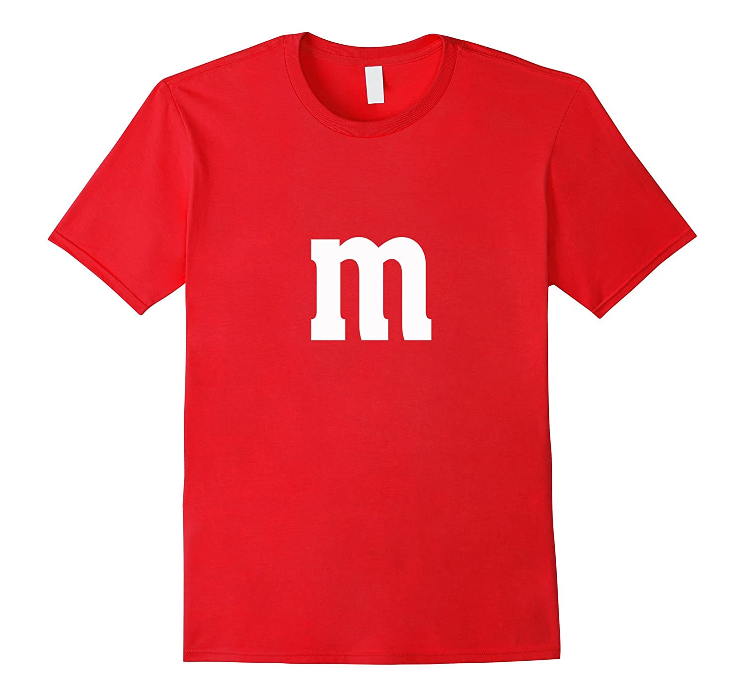 Halloween Group Costume T Shirt Chocolate Candy DIY Letter M-T-Shirt