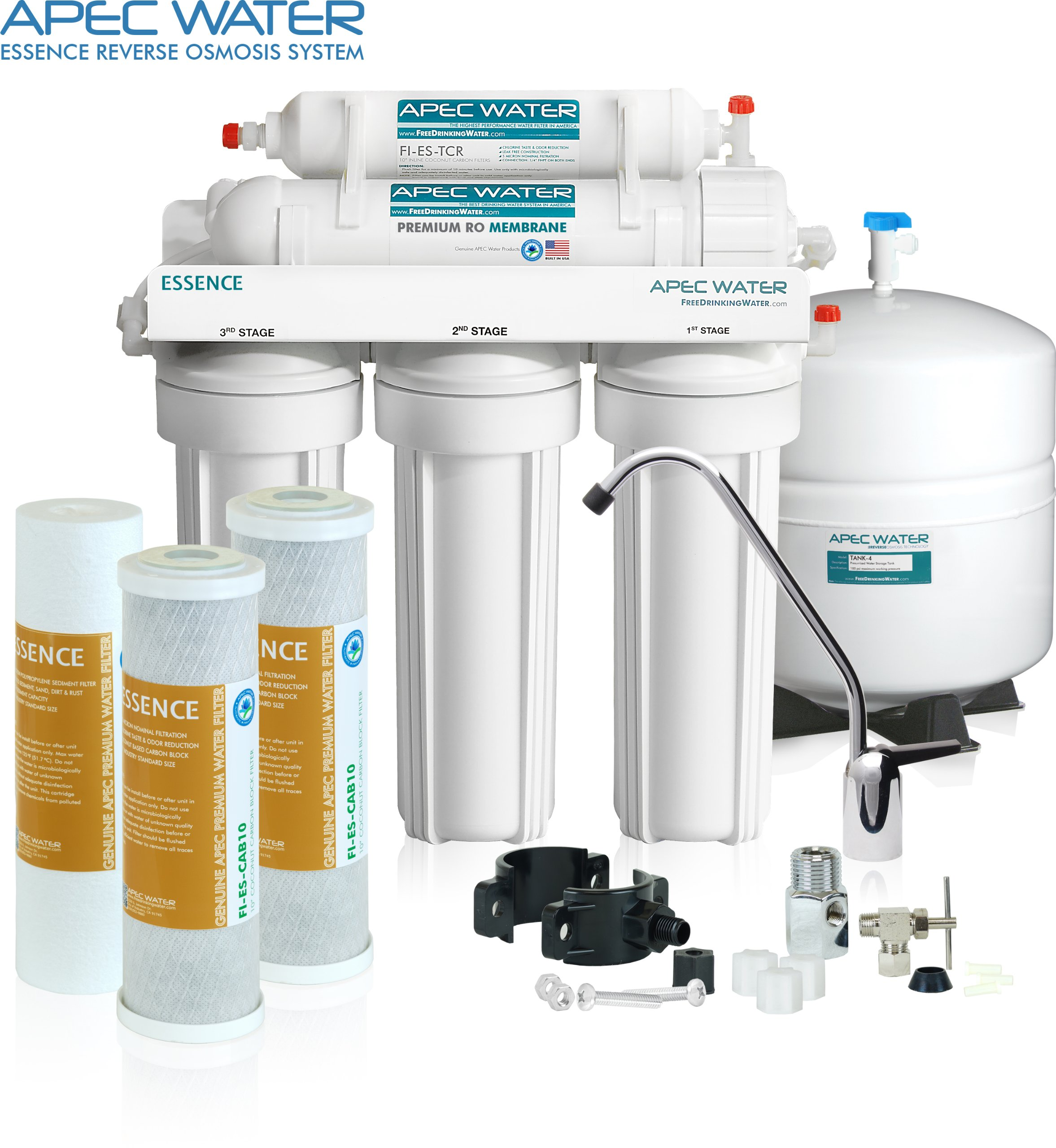 APEC Top Tier 5-Stage Ultra Safe Reverse Osmosis Drinking Water Filter System (ESSENCE ROES-50) by APEC Water Systems (Image #2)