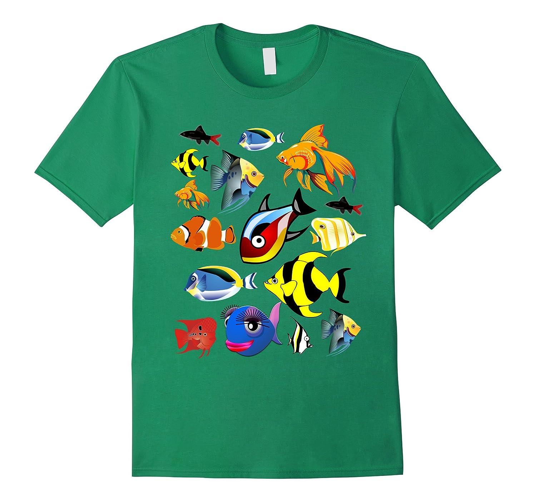 Fish aquarium fishing funny t shirt by tshirtso goatstee for Fishing t shirt