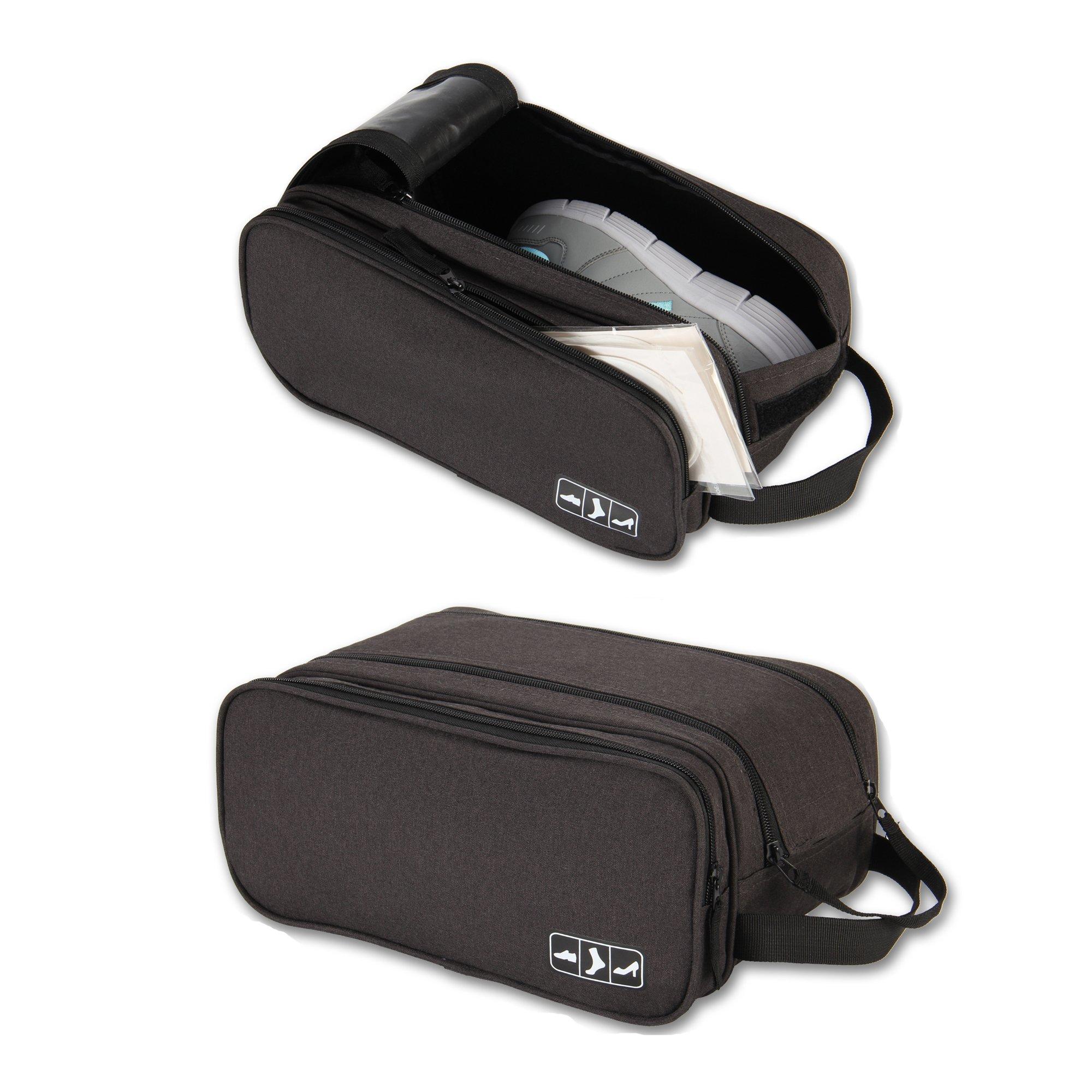 Hynes Eagle Portable Travel Gear Shoe Bags Pouch (Black)