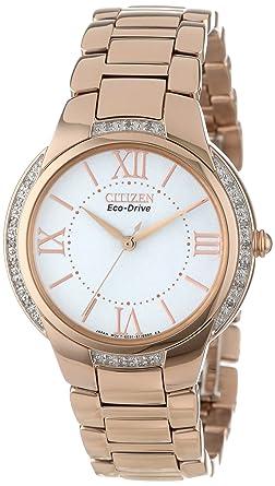 Amazon.com  Citizen Women s EM0093-59A Ciena Eco-Drive Rose Gold ... b862911c7b