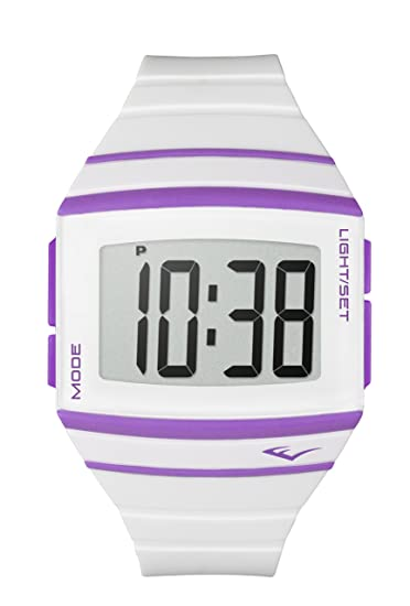 Everlast EV-501-001 - Reloj digital unisex, correa de plástico color blanco