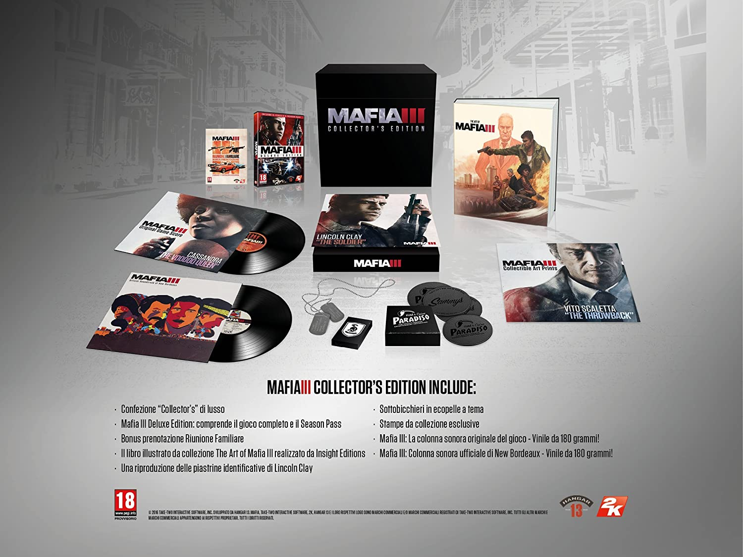 contenuti collector's edition mafia 3