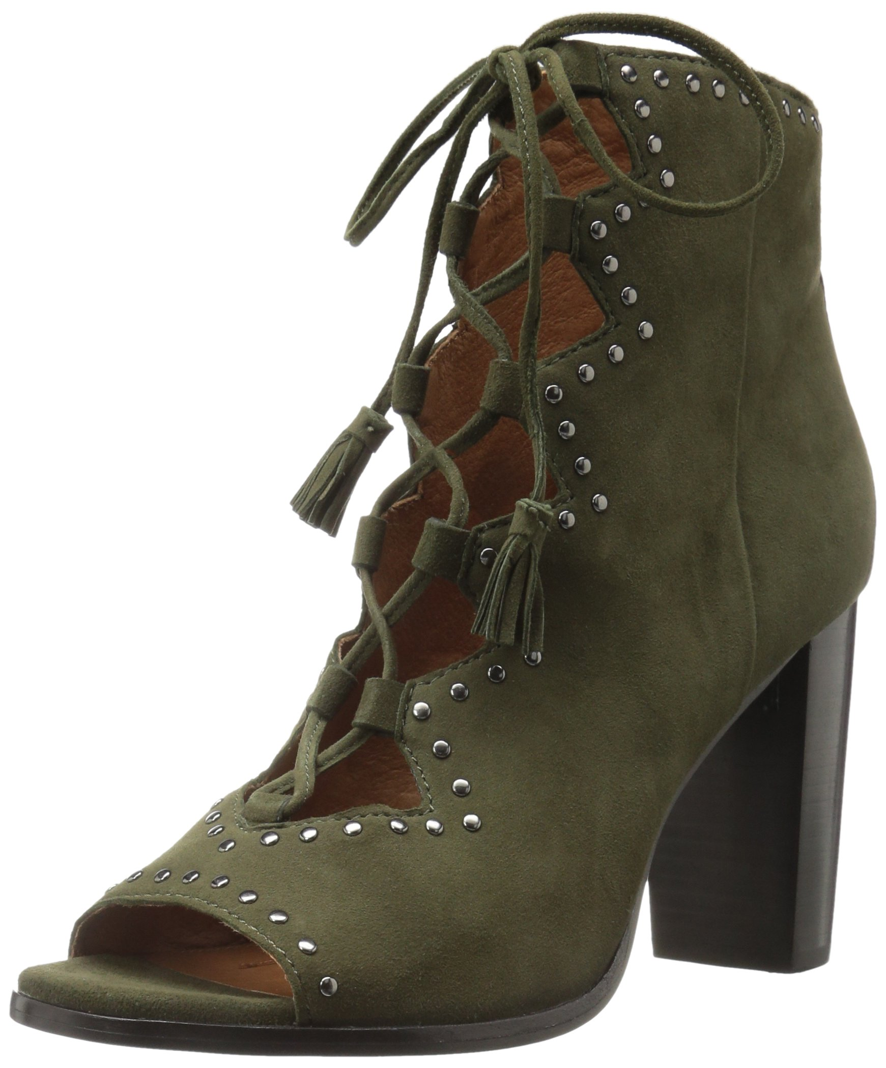FRYE Women's Gabby Ghillie Stud Boot, Forest Suede, 8 M US