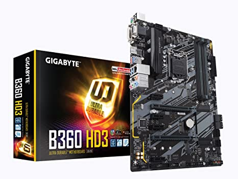 GIGABYTE B360 HD3 (LGA1151/Intel/B360/ATX/USB 3 1 Gen 2 (USB3 1) Type  A/DDR4/Motherboard)