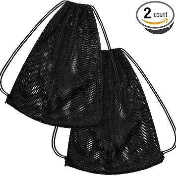 Amazon.com: Bolsa de malla con cordón para equipo de deporte ...
