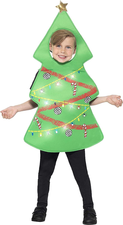 Smiffys Disfraz de árbol de Navidad, Verde, con Tabardo con Luces ...