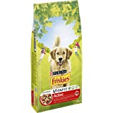 Friskies Vitafit Active : au Bœuf- 10 KG -Croquettespour Chien Adulte