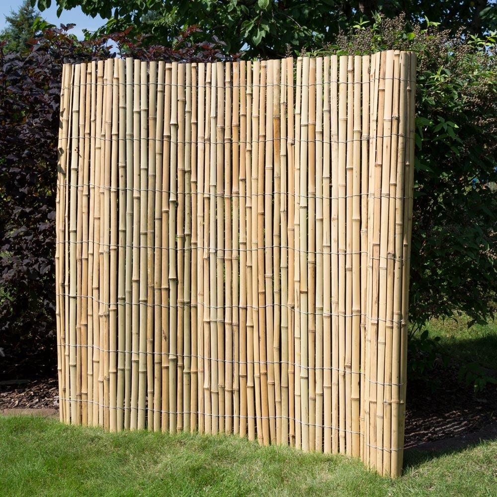 Homestyle4u Sichtschutz Sichtschutzmatte Bambusmatte Bambuszaun