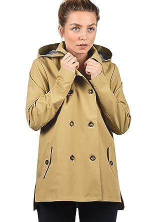 buy online 6107a 1cf60 DESIRES Tine Damen Trenchcoat Mantel Übergangsjacke mit Kapuze
