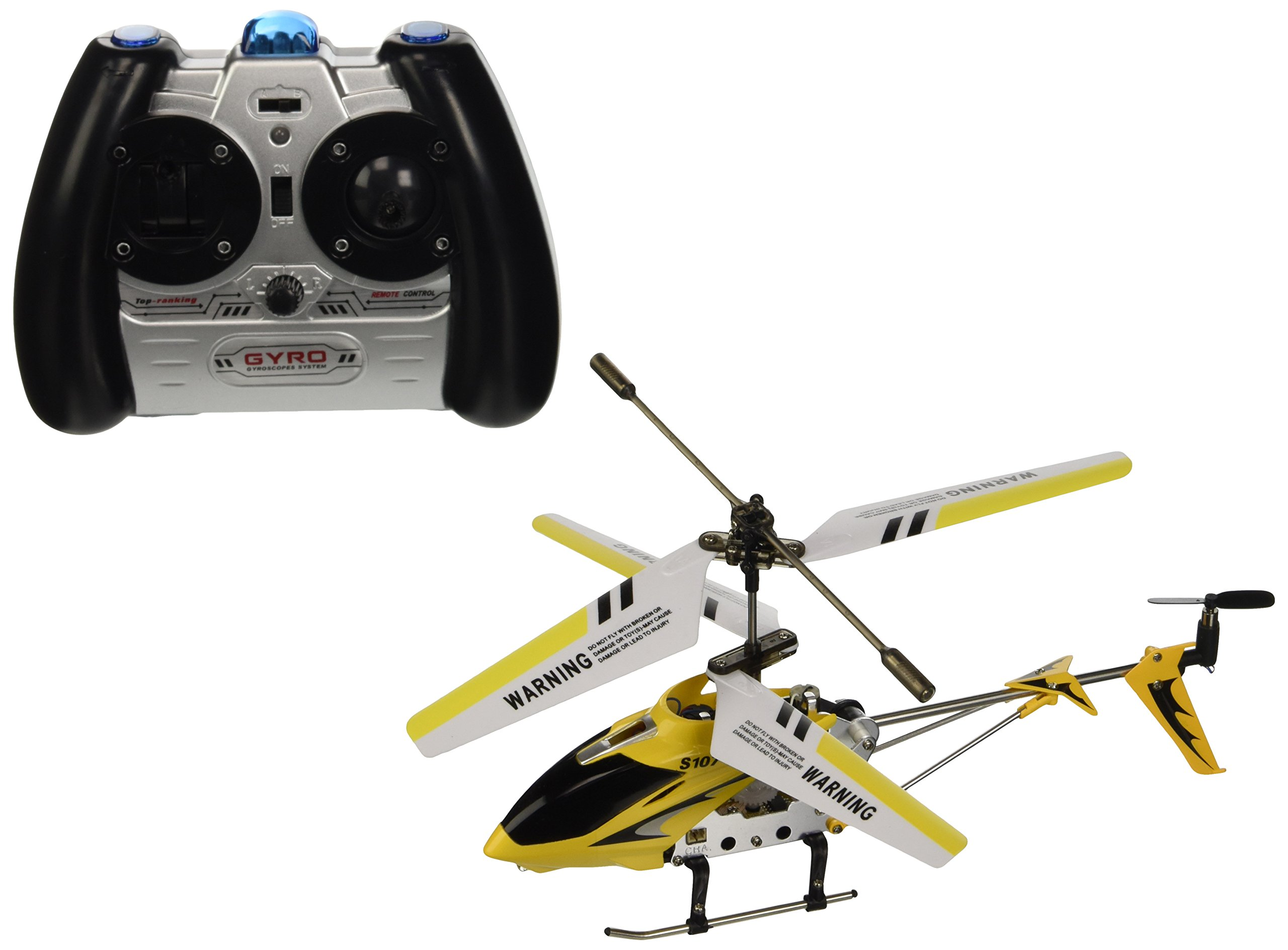 Syma 3 Channel S107 Mini Indoor Co-Axial Metal Body Frame & Built-in Gyroscope Helicopter (Color May Vary)