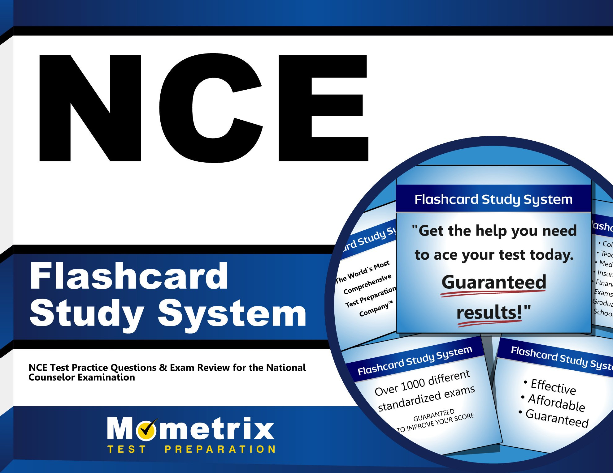 NCE Flashcard Study System: NCE Test Practice Questions & Exam Review for the National Counselor Examination (Cards)