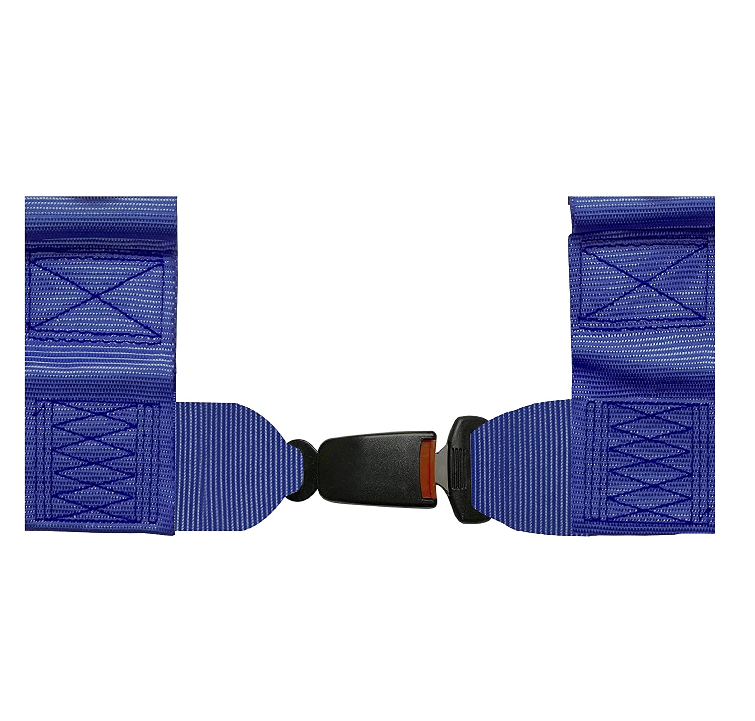 "OFF ROAD SIDE BY SIDE 2/"" SEAT BELT HARNESS RACING 4 POINT LATCH BLUE"