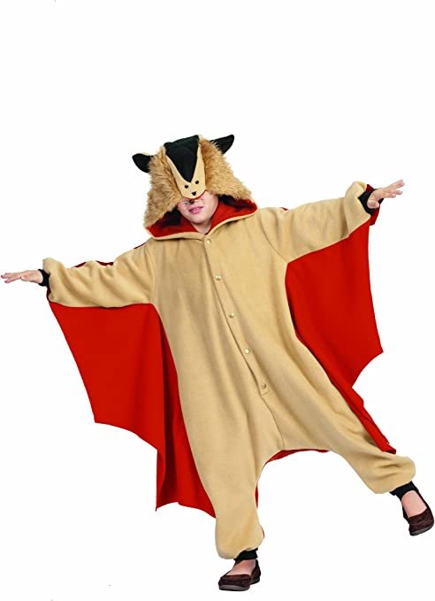 Amazon Com Rg Costumes 40112 Funsies Skippy The Flying Squirrel Child Large Size 12 14 One Size Clothing