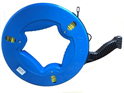 ezitown Blue Cable Puller Fiberglass Wire Reusable Electrical Fish ...