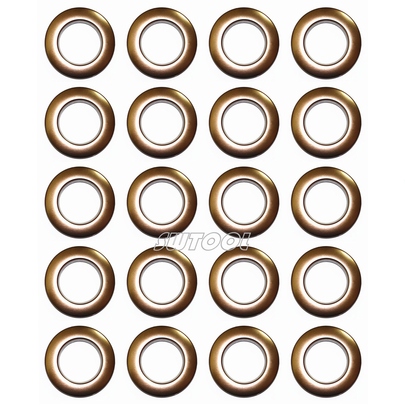 Selling Wonderful 1-9/16-Inch Inner Diameter Curtain Grommets 20-Pack (Brown)