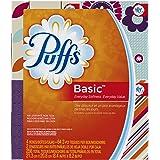 Puffs Basic Facial Tissues, 24 Cube Boxes (64 Tissues per Box)