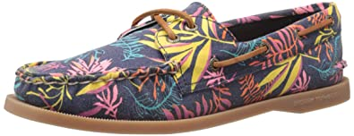 d63d0f61cedb SPERRY Women s A O 2 Eye Seaweed Print Pink Multi Boat Shoe