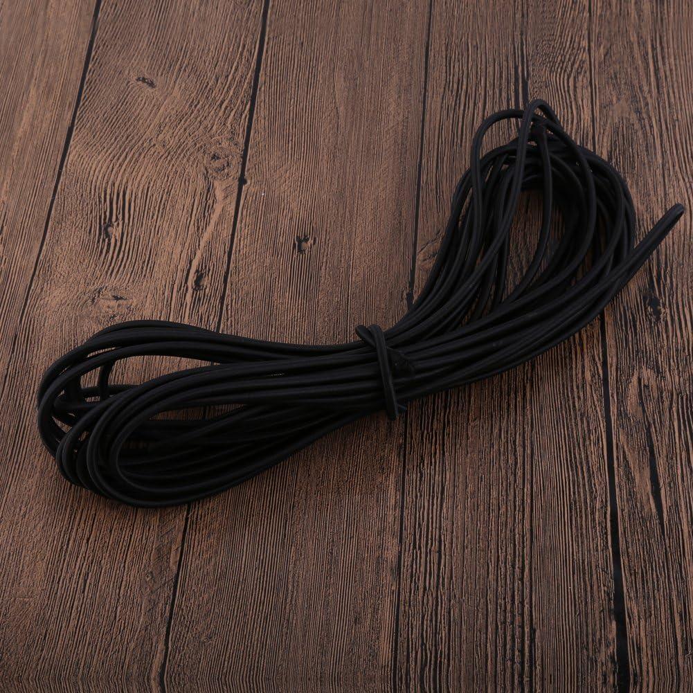 GLOGLOW 1 pc 10 M/ètres Corde /élastique Crafting Stretch String Noir Durable Forte /Élastique Bungee Corde Choc Cordon Nouage DIY Artisanat Faire