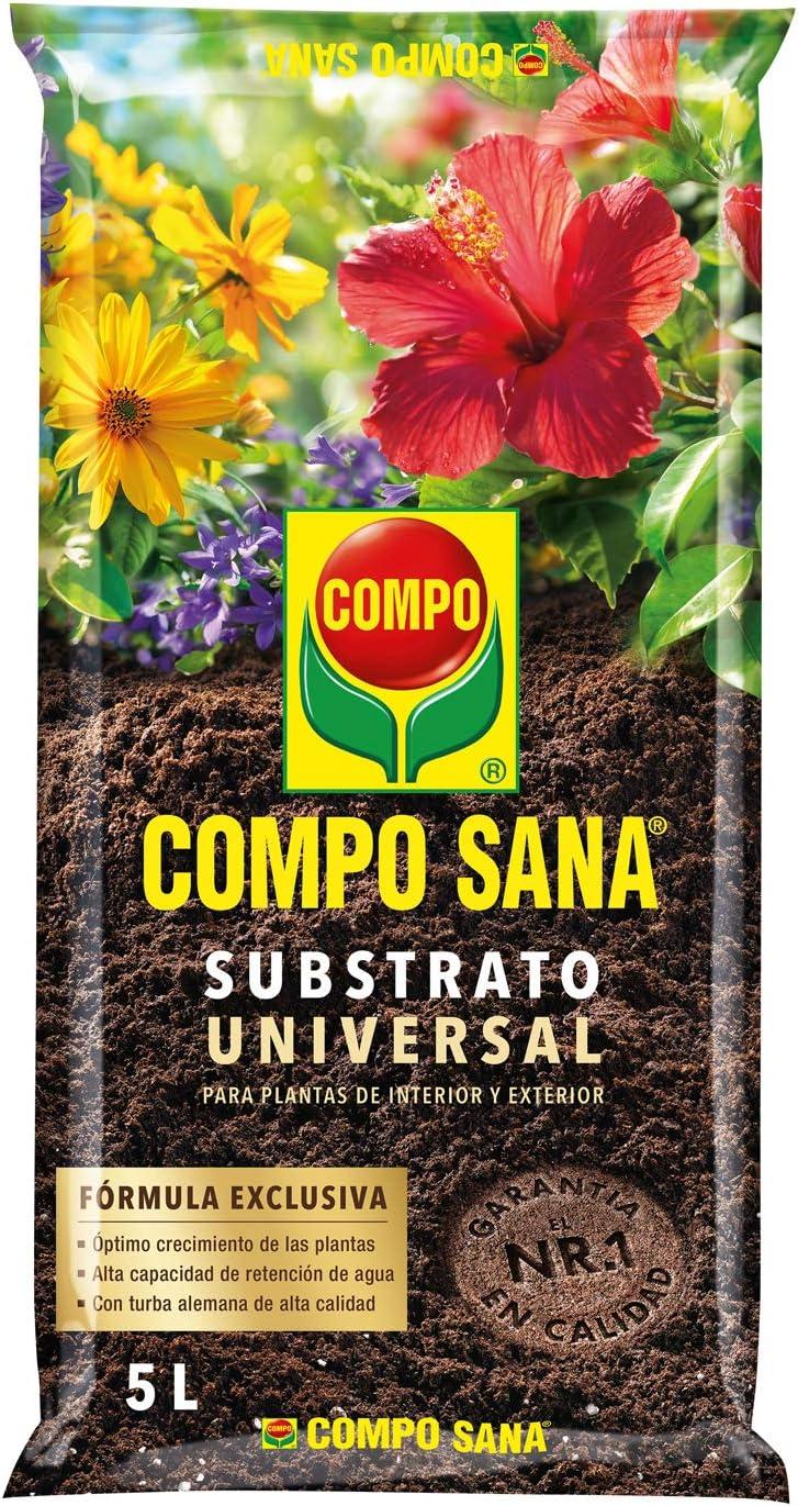 Compo Sana Universal de Calidad para macetas con 12 semanas de abono para Plantas de Interior, terraza y jardín, Substrato de Cultivo, 10 L: Amazon.es: Jardín
