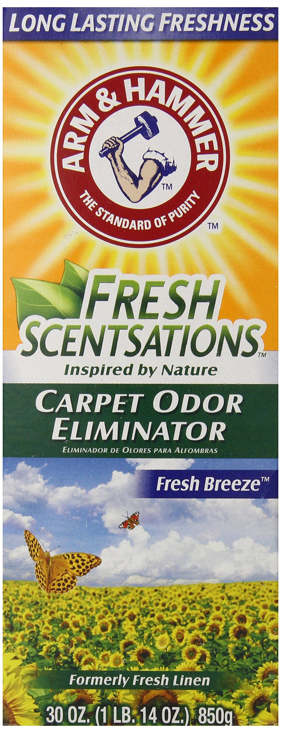 Arm & Hammer Fresh Scentsations Carpet Odor Eliminator, Fresh Breeze, 30 Oz (Pack of 6)