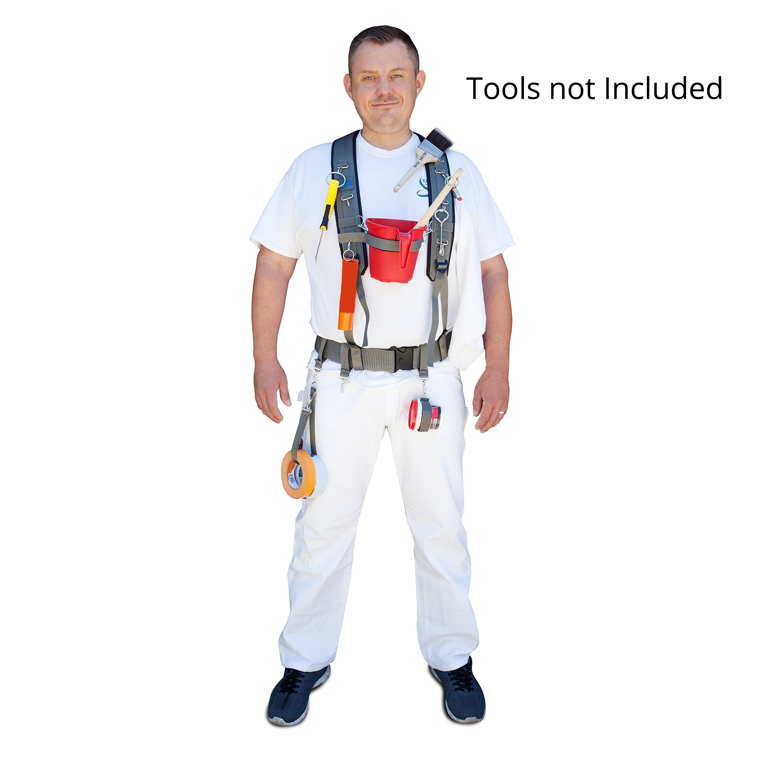 Painting Tool's Harness / Holder / Suspenders / Belt, New Professional Painters Harness - King's Harness by King's Harness INC