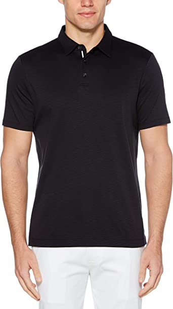 Perry Ellis Men's Big & Tall Ultra Soft Touch Slub Short Sleeve Polo Shirt