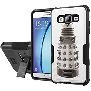 Galaxy [On5] Armor Case [NakedShield] [Black/Black] Urban Shockproof Defender [Kick Stand] - [Dalek Supreme] for Samsung Galaxy [On5]