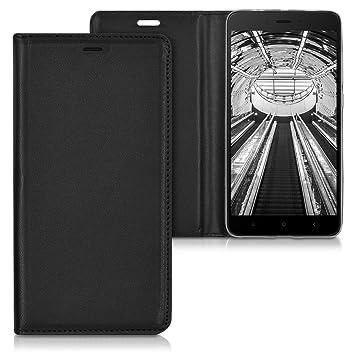 kwmobile Funda movil compatible con Xiaomi Redmi Note 4 / Note 4X - Carcasa de [cuero sintético] - Case en [negro]