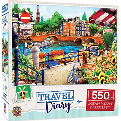 Travel Diary - Amsterdam 550pc Puzzle: Toys & Games [5Bkhe0803830]