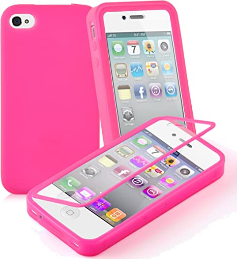 Cover Iphone 4 4S Silicone Gel Integrale Anteriore Posteriore