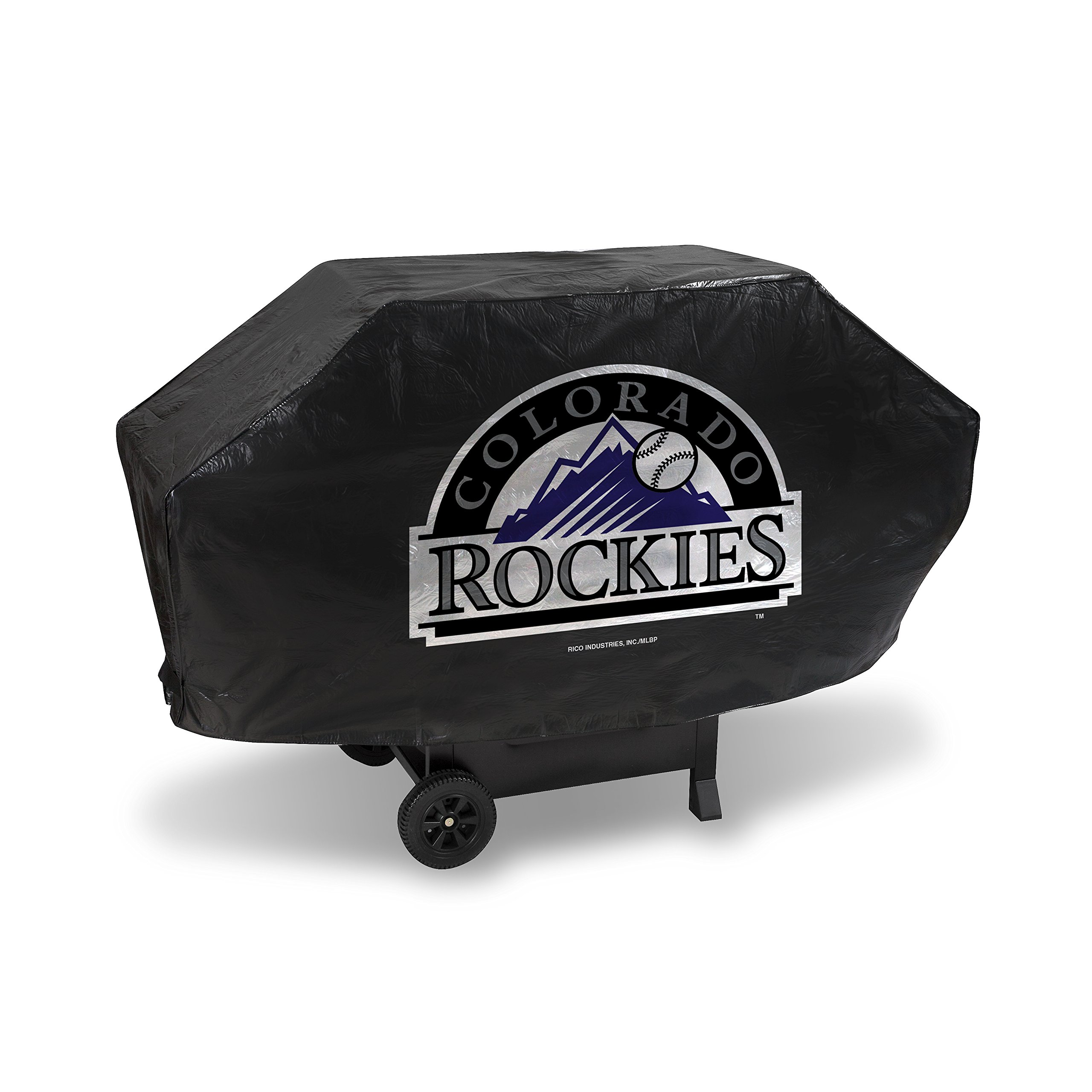MLB Colorado Rockies Deluxe Grill Cover, Black, 68 x 21 x 35