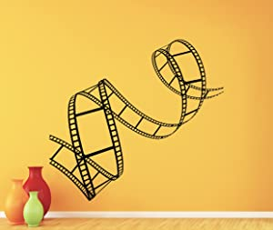 Film Strip Wall Decal Film Reel Vinyl Sticker Home Cinema Theater Decor Wall Art Design Camera Action Movie Bedroom Wall Decor Mural 259xxx
