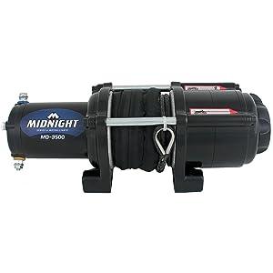 VIPER Midnight 4500lb ATV//UTV Winch Kit with 50 feet Steel Cable