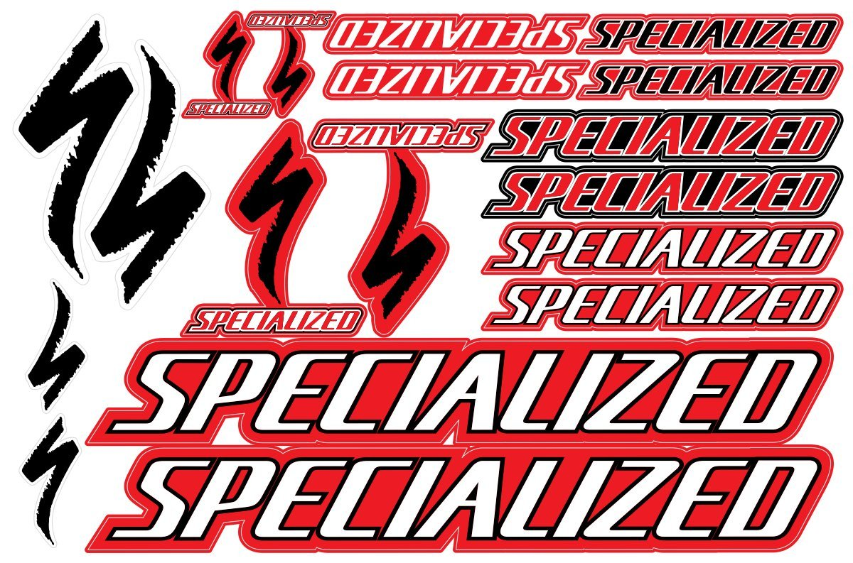 Specialized decals stickers bicycle frame replacement graphic set 2
