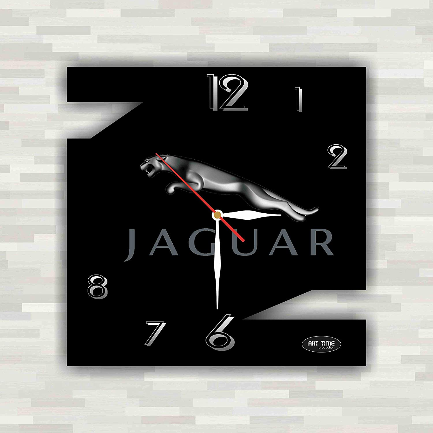Amazon Com Jaguar 11 Exclusive Wall Clock Handmade Unique Clock For Home And Office Original Present For Every Occasion Home Kitchen
