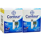 Bayer Contour 100 Test Strips 2 Boxes of 50's Exp Year or More