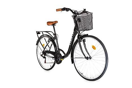 Moma Bikes Bicicletta Passeggio Citybike Shimano Alluminio 18 Velocità Ruota Da 28