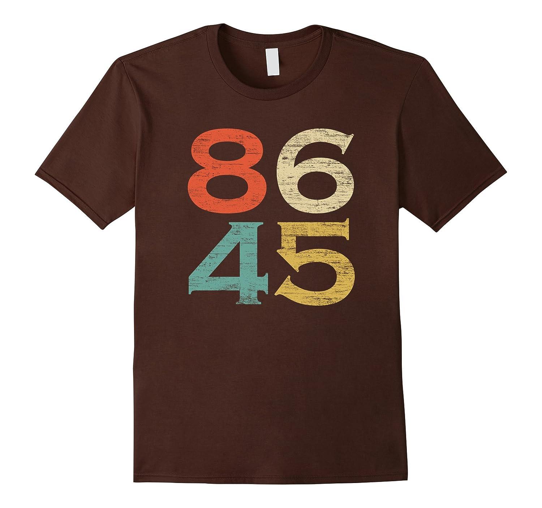 Classic Vintage Style 86 45 Anti Trump T-Shirt-FL