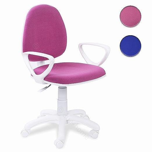 Adec - Dolphin, Silla de Escritorio giratoria, Silla Juvenil de Oficina, Color Rosa, Medidas: 54 x 79-91 x 54 cm de Fondo